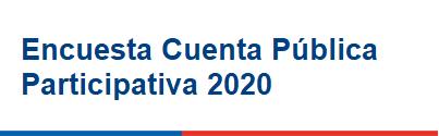 Encuesta Cuenta Pública Participativa 2020